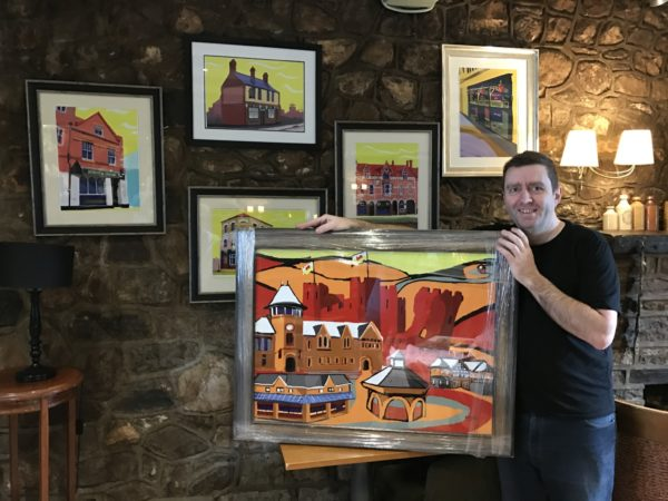 James Lovegrove of the Pantmawr Inn with hid Cardiff Pubs commissions