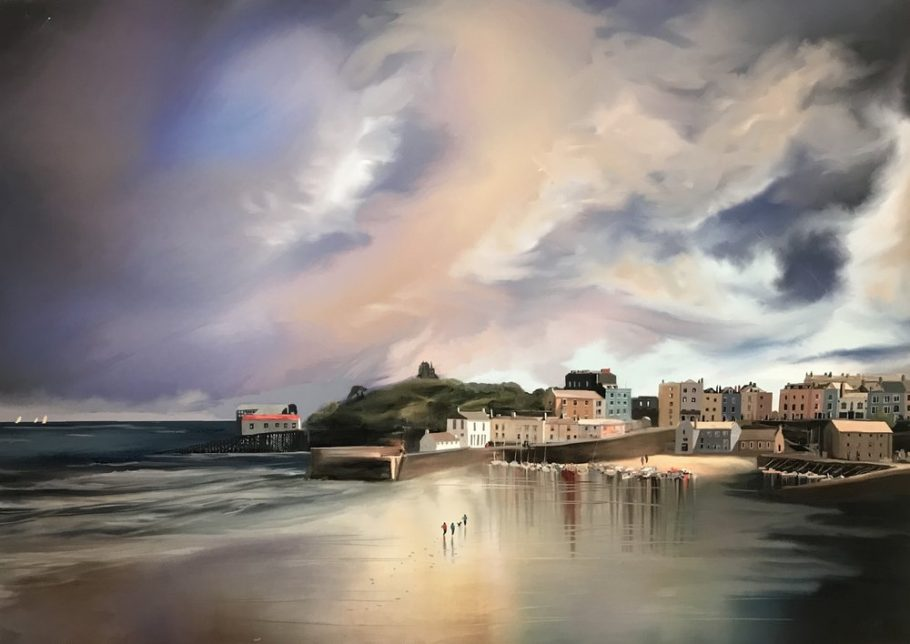 Title+Reflections+of+Tenby+Media+Master+Canvas+Print+hand+finished+with+acrylic+and+varnishes.+Sise+16x23+Price+£275